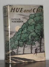 Patricia Wentworth - Hue and Cry - 1st 1st Original DJ - 1927 SCARCE - NR