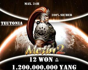 Metin2 Teutonia - 12 Won (1.2kkk Yang) - Blitzübergabe ⚡ Paypal 👍