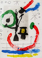 MIRO - HAPPY TIMES - ORIGINAL LITHOGRAPH 1965 - FREE SHIP IN THE US !!!