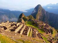 LANDSCAPE MACHU PICCHU ANCIENT PERU MAYA LARGE POSTER ART PRINT BB3081A