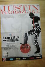 JUSTIN TIMBERLAKE   - Konzertposter  Tour Poster 2007 / etwas verschmutzt