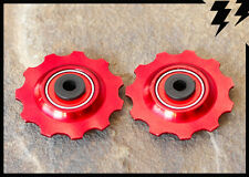 MT ZOOM RED Ceramic bearing Jockey Pulley Wheels 11T 4 shimano sram derailleurs