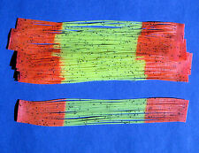 10 Silicone Skirt Tab CHART/OR TIP Lure Making Craft Bass Jig Spinner Bait Strip