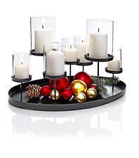 Kerzenständer Kerzenhalter Kerzentablett Teelichthalter Metall Glas Deko Advent
