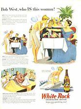 1946 White Rock PRINT AD Water  features 'Psyche' Fairy Cute Fun Decor