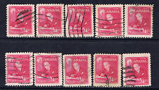 Canada #304(6) 1951 4 cent rose pink William Lyon Mackenzie King 10 Used