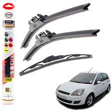 "Ford Fiesta 2001-2008 HEYNER SUPER FLAT PREMIUM wiper blades 22""16""10""C set of 3"