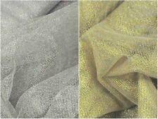 Tessuto Tulle Lurex laminato oro e argento addobbi H. 150 vendita al metro