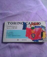 Abbonamento Torino calcio 92/93 tribuna nord MARATONA