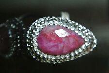 Silver Turkish Ottoman  RUBY Druzy Ring Nice piece !!plus free sizing