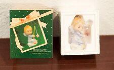 1983 BETSEY CLARK ANGEL PORCELAIN HALLMARK CHRISTMAS ORNAMENT MIB