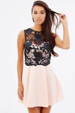 New *Lipsy* (size Uk 10 ) Black and Pink Sequin Lace Prom , Party Dress