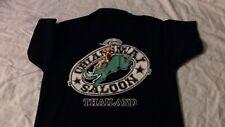 Chiangmai Saloon Tavern Bar Thailand Official Polo Shirt size Large Rare!