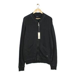 Diesel Sedikko Felpa Mens Off Black Full Zip Sweatshirt Jacket BNWT - Size XL