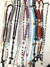 Closeout -30pc Mix Lot wholesale Religious full Rosary Crucifix cross necklace