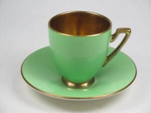 Replacement Vintage China Carlton Ware Demitasse Cup & Saucer VERT ROYALE