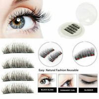 3D Triple Magnetic Eyelashes 3D Handmade Reusable False Magnet Eye Lashes 4Pcs