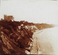 Costa Mer Francia O Bilab Foto Stereo PL59L11n Placca Da Lente Vintage c1900