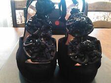 Vince Camuto 7m Shoes Mist Black True Suede Flowers