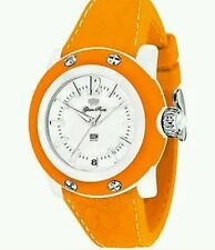 "GLAM ROCK ""MISS MIAMI"" WOMEN'S WATCH-ORANGE/WHITE"