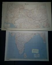 """1944-5 US Army """"Special Strategic Maps"""" India AMS 5207 1:4,000,000"""