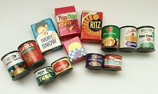 10 Piece Kids Pretend Play Pantry Groceries Food Can Boxes Vintage 1980's