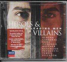 2 CD Pavarotti, Villazon, Kaufmann `Heroes & Villains` Neu/OVP Zauberflöte,Tosca