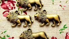 Lion Bronce 5 Encantos Estilo Vintage Joyería suministros C784