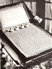 VINTAGE PRAM / DOLL COVER / 4ply  cotton - COPY  knitting pattern