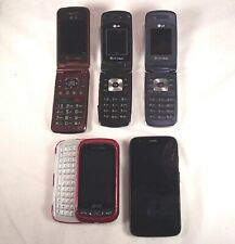 Lot of 5 Old Used Untested Cell Phones Flip Slider