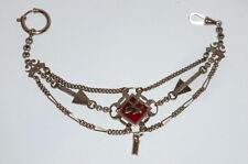 Alte silberne Maurer Zunft Taschenuhrkette Uhrenkette Zunftkette Uhrkette Kette