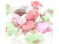 Sweet 2 lb SUGAR FREE Assorted Taffy - Diabetic Chewy Candy 5 Flavors Bulk Bag