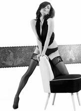 Erotic Sheer Black Hold Ups - Gatta Ars Amandi Hosiery