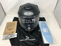 HJC RPHA 70 ST MOTORCYCLE HELMET FLAT BLACK MEDIUM
