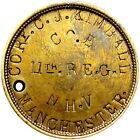 1861 Civil War Soldier ID Dog Tag 11th New Hampshire Corp Kimball Fredericksburg