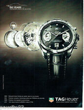 PUBLICITE ADVERTISING 086  2011  la montre Tag Heuer Grand Carreara calibre 17 R