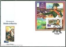 SAO TOME 2015 200th BATTLE OF WATERLOO S/S FIRST DAY COVER