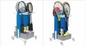 Trolley Tennis Badminton Ball Racket Trolley Portable Basket Unisport