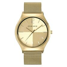 POLICE Orkneys Champagne Dial IP Gold Mesh Band Watch PL.15918JSG/06MM