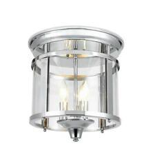 Home Decorators 3-Light 12.25 in. Polished Chrome Flush Mount Ceiling Light