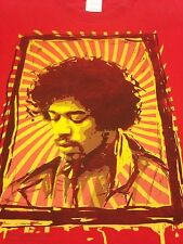 Jimi Hendrix Xl Red T-shirt Purple Haze Guitar Rock Blues Fender Hippy