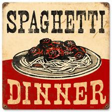 Vintage Style Metal Sign Retro Kitchen Pub Spaghetti Dinner 12 x 12