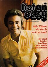 Listen Easy Magazine November 1973    Blue Mink    John Dankworth    Diana Ross