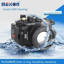 Meikon 40m 130FT Waterproof Diving Housing Case For Canon PowerShot G9X Camera