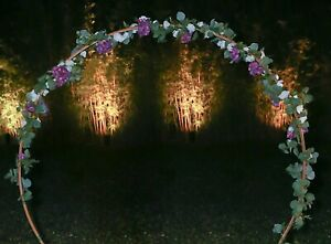 12 Foot Long Artificial White Rose, Hydrangea, and Seeded Eucalyptus Garland