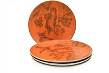 "Dorothy Thorpe Persimmon Orange Gold 7.75"" Salad Plate - Qty 4"