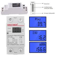 Contador de Consumo Eléctrico 1 Din Digital Vatímetro 220V Medidor de energía