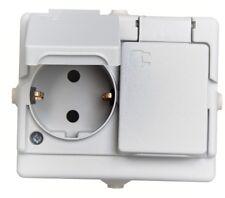 Kopp Feuchtraum Schalter, Steckdose IP44 grau aufputz