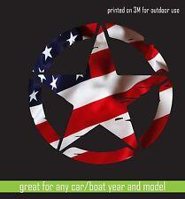 "3m Print vinyl sticker JEEP Army star Hood Car Window decal Camouflage 30"" cut"