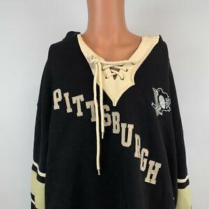 Old Time Hockey Pittsburgh Penguins Lacer Hoodie Sweatshirt NHL Hockey Sewn XL